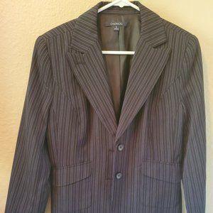 Blue pin-striped blazer